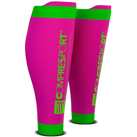 Compressport R2V2 Manchons de compression pour mollets, fluo pink